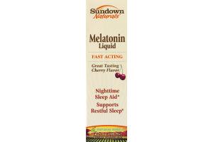Sundown Naturals Melatonin Liquid Nighttime Sleep Aid Cherry