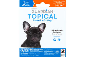 Guardian Topical Flea & Tick Prevention for Dogs 7-33 Lbs - 3 CT