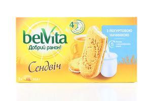Печенье Доброе утро! Сэндвич йогурт Belvita 253 г к/у