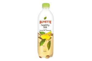Напиток безалкогольный со вкусом зеленого чаю и лемограсса Healthy tea Buvette п/бут 0.5л
