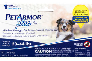 Pet Armor Plus for Dogs 23-44 Lbs
