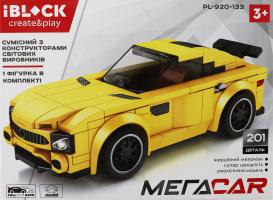Конструктор для дітей від 3років №PL-920-133 Мегаcar Iblock 1шт