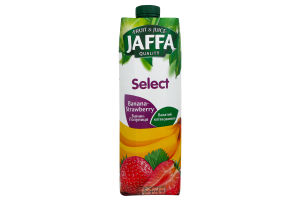 Нектар бананово-полуничний Select Jaffa т/п 0.95л