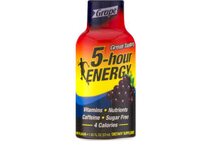 5-Hour Energy Dietary Supplement Grape
