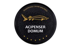 Икра осетра черная зернистая Acipenser domum ж/б 500г