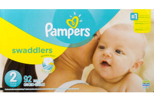 Pampers Swaddlers Sesame Street Diapers Size 2 Super Pack (12-18 lb) - 92 CT