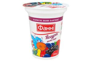 Йогурт 1.5% Лесная ягода Фанні ст 280г