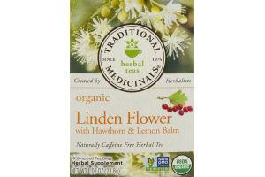 Traditional Medicinals Tea Linden Flower with Hawthorn & Lemon Balm - 16 CT