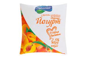 Йогурт 2.5% Персик Гармонія м/у 400г