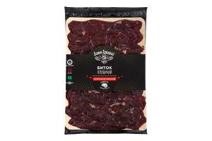 Биток яловичий сирокопчений нарізка 140 гр.
