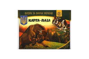 Карта-пазл для детей от 6лет Флора и фауна Украины Южпромгруп 1шт