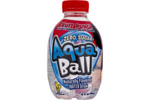 AquaBall Naturally Flavored WATER Drink Fruit Punch