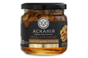 Мед натуральний квітковий луговий з волоським горіхом Асканія с/б 250г