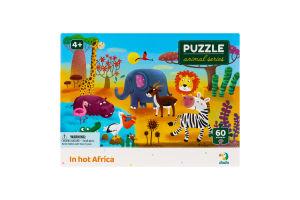 Пазл для детей от 4лет 32х23см №300376 In hot Africa Animal series Dodo 60эл