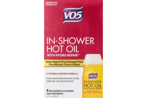 Alberto VO5 In-Shower Hot Oil With Hydro Pre-Shampoo In-Shower Hair Treatments - 4 CT