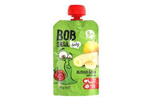 Пюре фруктове для дітей від 5міс Яблуко-банан Bob Snail д/п 90г
