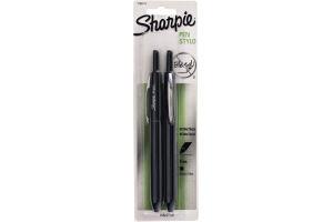 Sharpie Pen Retractable Black - 2 CT