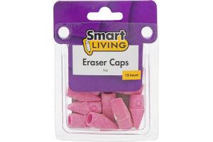 Smart Living Pink Eraser Caps - 12 CT