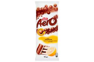 Шоколад молочный Aero со вкусом лимона пористый