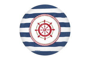 Тарелка 17см Морская Amscan 8шт