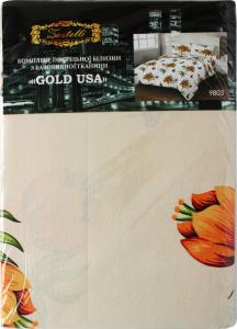 КПБ 1,5 145*210см/145*210см/нав.50*70-2шт mix, бязь GOLD USA 13, 125гр/м2