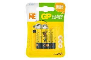 Батарейки GP Minions GP24AU YOY-2UE4шт, ААА