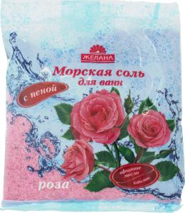 Сіль для ванн Желана троянда 500г x32