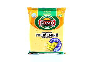 Сыр 50% нарезка Российский Комо м/у 220г