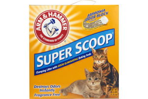 Arm & Hammer Super Scoop Fragrance Free Clumping Litter with Odor Elimating Baking Soda