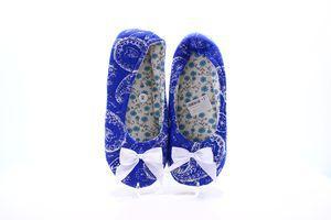 Тапочки-чешки комнатные женские Twins Огурцы 40 синие