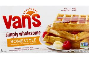 Van's Belgian Authentic Crispy Waffles - 6 CT
