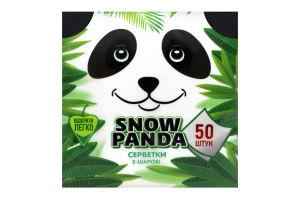 Салфетки столовые 24х24см 2-х слойные Сніжна панда 50шт