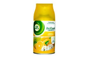 Сменный баллон к автоматическому освежителю воздуха Лимон и женьшень Freshmatic Air Wick 250мл