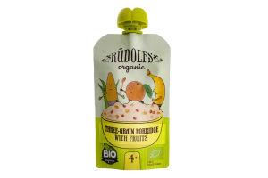 Каша багатозернова безмолочна з фруктами для дітей від 4міс Rudolfs д/п 110г