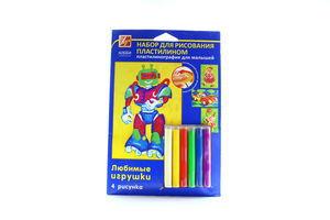 Набір для малювання пластилином Любимые игрушки для малюків