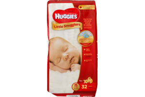 Huggies Diapers Little Snugglers Size N - 32 CT