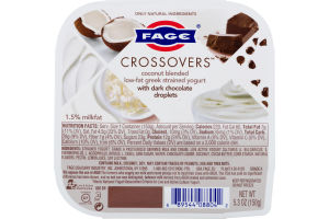 Fage Crossovers Coconut Blended Low-Fat Greek Strained Yogurt With Chocolate Droplets