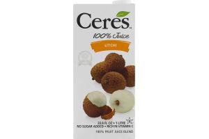 Ceres 100% Juice Litchi