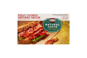 Hormel Natural Choice Fully Cooked Uncured Bacon, 2.52 Ounce