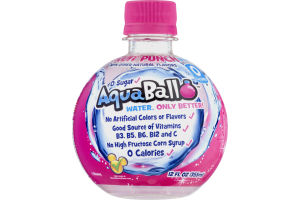 AquaBall Flavored Water Drink Fruit Punch