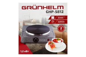 Плита електрична 1.2 кВт GHP-5812 Grunhelm 1шт