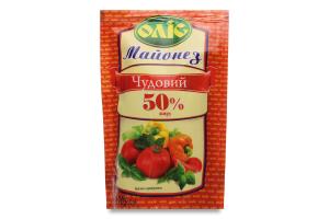 Майонез 50% Чудовий Оліс д/п 170г