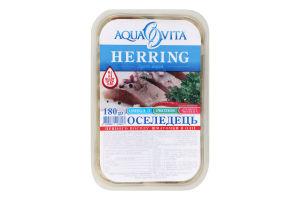 Оселедець пряного посолу шматочки в олії Aqua Vita п/у 180г
