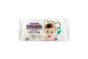 Салфетки влажные детские с экстрактом ромашки Сніжна Панда 64шт