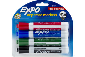 Expo Dry Erase Markers - 4 CT