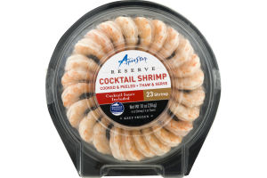 Aqua Star Cocktail Shrimp Cooked & Peeled with Cocktail Sauce - 23 CT