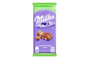 Шоколад молочный Целый лесной орех Milka м/у 90г