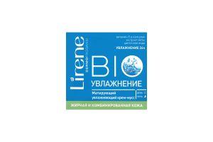 Крем-мусс для жирной и комбинированой кожи лица Bio увлажнение Lirene 50мл