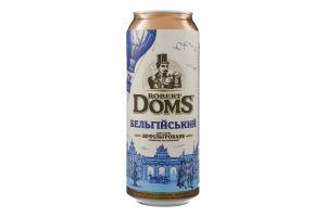 Пиво специальное 0.5л 4.3% светлое нефильтрованное пастеризованное Бельгийский Robert Doms ж/б