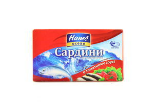 Сардина в томатном соусе Ocean Hame к/у 120г